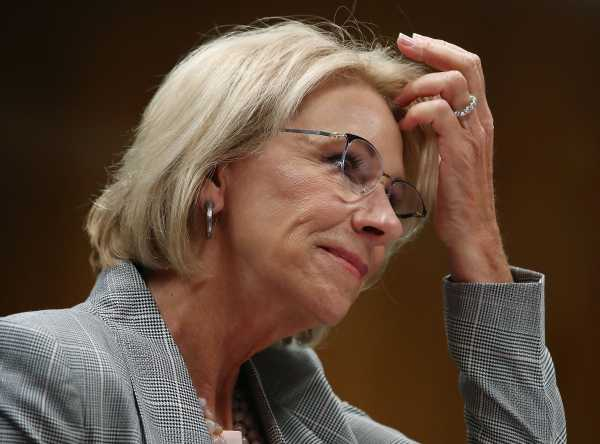 Betsy DeVos's federal school safety commission won't look at guns