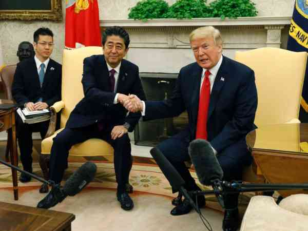 Trump and Abe express optimism ahead of North Korea summit